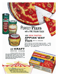 Pizza Mix Ad, 1960 Posters
