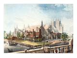Westminster Abbey, 1819 Giclee Print by Rudolph Ackermann