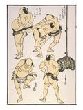 Sumo Wrestlers, 1817 Prints by Katsushika Hokusai