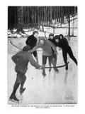 Playing Ice Hockey, 1913 Giclee Print by Walter King Stone