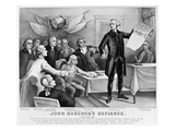 Declaration of Independence Prints by  Currier & Ives