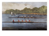 Currier and Ives: Rowing Contest Giclee Print by  Currier & Ives