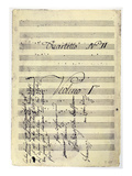 Beethoven Manuscript, 1799 Giclee Print