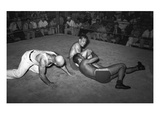Wrestling Match, 1938 Giclee Print by Russell Lee