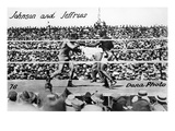 Johnson vs Jeffries, 1910 Giclee Print