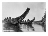 Kwakiutl Canoes, c1914 Posters by Edward S. Curtis