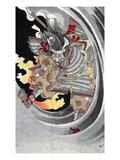 Taira No Tomomori Giclee Print by Yoshitoshi Taiso
