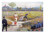 Baseball Game, c1887 Giclee Print by  L. Prang & Co.
