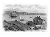 NYC: Fulton Ferry, 1746 Giclee Print by Samuel Hollyer
