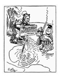 Monroe Doctrine Cartoon Print