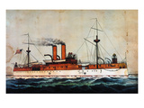 US Battleship Maine 1898 Giclee Print by  Currier & Ives