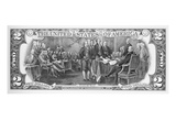 Currency: Two Dollar Bill Prints