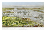 New York Harbor, 1872 Giclee Print by  Currier & Ives