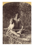 Ute Man with Dog, c1874 Giclee Print by John K. Hillers