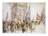 World War I: Victory Parade Giclee Print by Charles Fouqueray