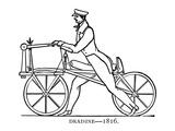 Bicycling: Draisine, 1816 Giclee Print by Karl von Drais de Sauerbrun