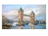 London: Tower Bridge, 1895 Giclee Print by O.F. Kell