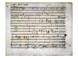 Beethoven Manuscript Giclee Print