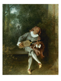 Watteau: Guitar Player Prints by Jean Antoine Watteau