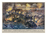 Civil War: Vicksburg, 1863 Giclee Print by  Currier & Ives