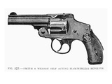 Smith and Wesson Revolver Giclee Print