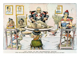 Thanksgiving Cartoon, 1898 Giclee Print
