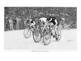 Bicycle Race, 1896 Giclee Print by Charles H. Broughton