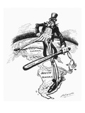 Monroe Doctrine Cartoon Giclee Print by Louis Dalrymple