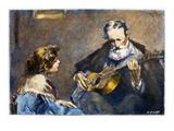 Guitar Player Giclee Print by Modesto Texidor
