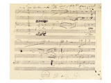 Beethoven Manuscript, 1826 Giclee Print