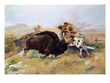 Russell: Buffalo Hunt Prints by Charles Marion Russell