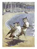 Owl and the Pussycat Giclee Print by Leslie Brooke