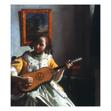 Vermeer: Guitar Player Giclee Print by Jan Vermeer