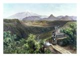 Velasco: The Train, 1897 Giclée-Druck von Jose Maria Velasco