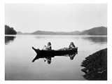 Clayoquot Canoe, c1910 Art by Edward S. Curtis