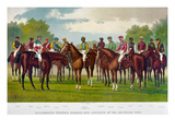 American Jockeys, 1889 Giclee Print by  Currier & Ives