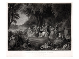 Fourth of July Picnic Giclee Print by Samuel Hollyer