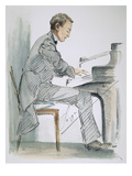 Sergei Rachmaninoff Giclee Print by Hilda Wiener