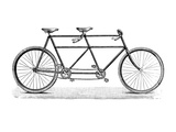 Tandem Bicycle, c1900 Giclee Print
