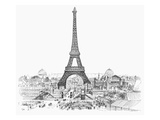 Paris Exhibition, 1889 Giclee Print