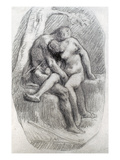 Millet: The Lovers Giclee Print by Jean-François Millet