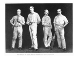 Cricket Players, 1889 Giclee Print by Frederick Gutenkunst
