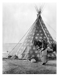 Blackfoot Tepee, c1927 Print by Edward S. Curtis