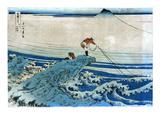 Katsushika: Fishing, c1834 Prints by Katsushika Hokusai