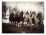 Native American Chiefs Premium Giclee Print by Edward S. Curtis