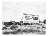 Billboard Camp, 1938 Giclee Print by Dorothea Lange