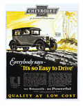 Chevrolet Ad, 1926 Giclee Print