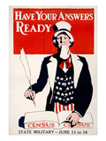 Census Poster, 1917 Giclee Print