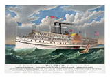 Steamboat: Pilgrim, c1883 Giclee Print by  Currier & Ives