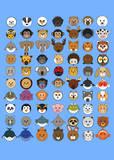70 Animaru On Blue Art